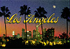 Los Angeles City Skyline Postcard, 4 L x 6 W