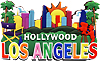 LA & Hollywood Skyline & Icons Magnet