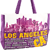 Los Angeles CA City View Tote Bag, Purple