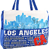 Los Angeles CA City View Tote Bag, Blue