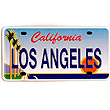Los Angeles Magnet - LA License Plate, Metal