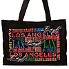 Los Angeles CA Multi Colored Landmarks Design Bag