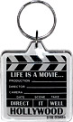 Hollywood Movie Clapboard Acrylic Key Chain
