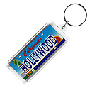Hollywood Mini License Plate Key Chain