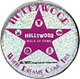 Hollywood Walk of Fame Star Pink Glitter Magnet