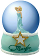 Marilyn Monroe Gold Star, 65 mm Snow Globe