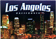 Los Angeles City Lights Postcard Magnet