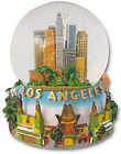 Los Angeles - Musical Snow Globe, 5.5H