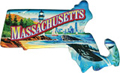 Massachusetts Scenes State Map - Large Acrylic Magnet