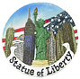 Statue of Liberty Mini Plate Magnet, 3 D