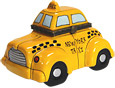 New York Taxi, Porcelain Trinket Box, 4 W