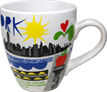 Large New York City Ceramic Souvenir Mug - NYC Harbor