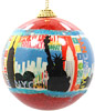 New York City Skyline, Red Ornament Ball