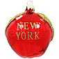 New York Apple Glass Ornament