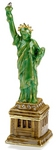 Statue of Liberty Enamel Jeweled Trinket Box