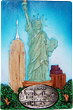 New York Souvenir Magnet with Pewter Emblem