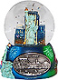 New York City Statue of Liberty Mini Snow Globe - 2.75H