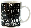 NYC Coffee Mug with B/W Letter