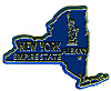New York State Map - Refrigerator Magnet