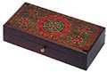 Carved Wooden Box - Large Floral Pattern Box, 13-5/8 L