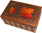 Wooden Keepsake Box - Autumn Theme, 6.25L