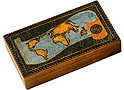 Wooden Polish Box - World Map Box, 8 L
