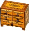 Wooden Polish Box - Fancy Five-Drawer Mini Chest, 7.75 L