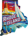 Rhode Island Scenes State Map - Large Acrylic Magnet