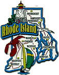 Rhode Island State Map - Large Refrigerator Magnet
