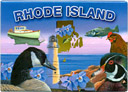 Rhode Island State Icons Souvenir Large Metal Magnet