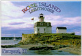 Rose Island Lighthouse Souvenir Metal Magnet