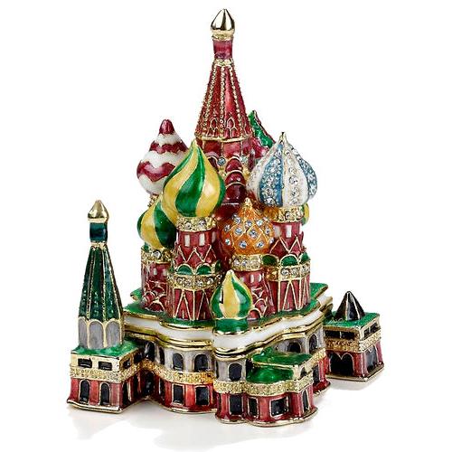 St Basil S Cathedral Enamel Jeweled Trinket Box