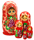 6  Doll Set 5 Nesting Dolls