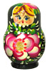 3  Miniature Russian Doll Set - 5 Nesting Dolls, Green