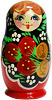 3  Miniature Russian Doll Set - 5 Nesting Dolls