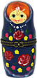 3.5  Porcelain Hinged Box Nesting Doll, Blue
