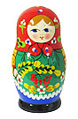 5  Doll Set 5 Nesting Dolls, Traditional