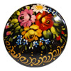 Russian Lacquered Pin - Round Shape