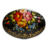 Russian Lacquered Pin - Oval Shape