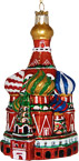St. Basil's Cathedral 3D Glass Ornament