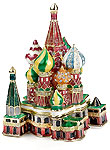 St. Basil's Cathedral Enamel Jeweled Trinket Box
