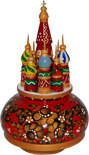St. Basil's Cathedral Russian Music Box - 7 H
