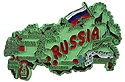 Map of Russia - Refrigerator Magnet