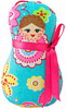 Russian Doll Decorative Plush Ornament - Seafoam Green