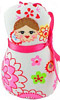 Russian Doll Decorative Plush Ornament - White