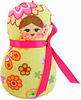 Russian Doll Decorative Plush Ornament - Yellow