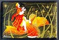 Russian Lacquer Box - Summernight Theme, 3.5 L
