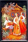 Russian Lacquer Box - Ladies in Garden, 3.5 L