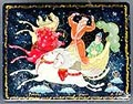 Russian Lacquer Box - Riding on Clouds, 3.5 L