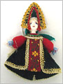 Russian Doll Ornament - Assorted Green Skirt